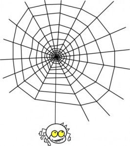 ragno_the_spider_with_a_simple_web_clip_art_20169